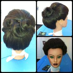 #vintagehair #updo #hair #vintage #cosmetology #classichair #hairfashion   by Jackie Parres
