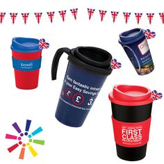 Our travel mugs with your logo are made in the UK and are available in a variety of colours to suit all of your promotional needs and are dishwasher friendly