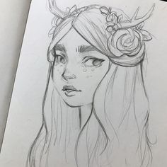 Practice sketch... trying to learn and improve... . . . #artstudy #sketch #sketchbook #sketchoftheday #hornedgirl #fantasy #deergirl #doodle #graphitedrawing #pencilart #pencildrawing #naturegirl #traditionalart #characterdesign #artistscoutz #bushyeyebrows #instaart #instaillustrate #instagood