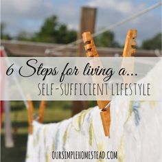 The Homestead Survival | 6 Steps for Starting a Self Sufficient Lifestyle | Homesteading - http://thehomesteadsurvival.com