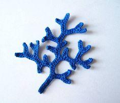 Coral Branch Crochet Applique