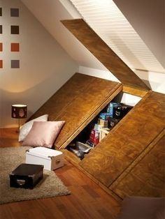 15 Loft Room Ideas That Will Give You Extra Floor Space Archiparti Cool Bookshelfs Old House Rem In 2020 Attic Bedroom Small Attic Bedroom Storage Small Attic Room