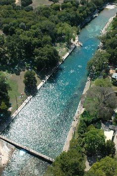 A natural swimming pool in downtown Austin - Barton Springs Pool. They have Full Moon swims every month!
