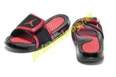 41a7b1a25184 Air Jordan Hydro 2 Slide Slides Sandals Sandals Black Red Red Sneakers