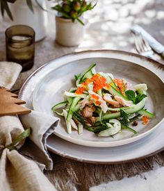 Smoked rainbow trout salad - Gourmet Traveller