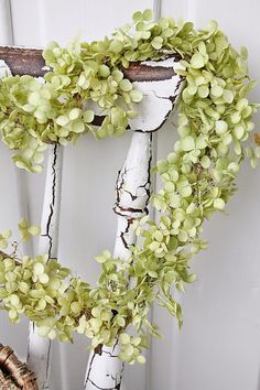 Wreath heart ~ ⚜️ Beautifully Aesthetic ⚜️ by VoyageVisuel White Cottage, Cozy Cottage, Cottage Style, Cement Planters, Pear Blossom, Vibeke Design, Spring Green, Shades Of Green, Hydrangeas