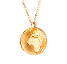 def2ab4b315990 Gold Earth Pendant Gold Filled And Silver Necklace Globe Icon Jewelry  Design Planet Art Logo Beep Studio World Map Small Minimalist