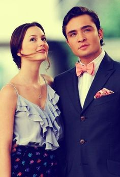 Blair Waldorf and Chuck Bass from Gossip Girl.