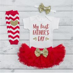My First Fathers Day Baby Girl Clothes, Father's Day Gift From Baby, I Love My Daddy Outfit Set, Father's Day Gift 014S