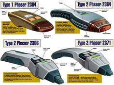 Phaser sidearms, 2360's-70's