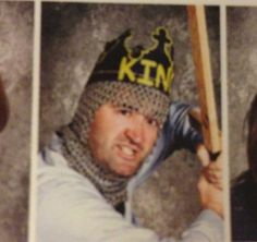 This history teacher, who takes his job very seriously.   22 Teachers Who Know How To Take A Yearbook Photo