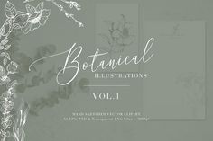 Botanical Illustrations Vol.1 by The Autumn Rabbit Ltd on @creativemarket