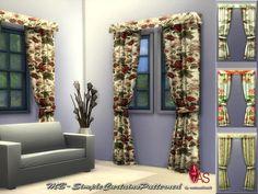 MB-SimpleCurtainsPatterned  Gardinen mit frischen Blumenmustern, in 4 verschiedenen Designs, kreiert für Sims 4, von matomibotaki.  Curtains with fresh floral designs, in 4 different designs, created for Sims 4, by matomibotaki.  https://www.allaboutsims.net/forum/index.php/Thread/15981-MB-SimpleCurtainsPatterned/?postID=77811#post77811