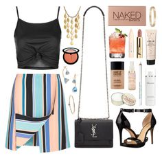 """""""Lollipop stripes"""" by sophiehackett ❤ liked on Polyvore featuring Topshop, Opening Ceremony, Yves Saint Laurent, Urban Decay, MAKE UP FOR EVER, L'Occitane, Sephora Collection, Tory Burch, Obsessive Compulsive Cosmetics and L'Oréal Paris"""