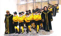 Croquis de procession, les pages de Roland de Lassus, Mons, Gérard Noirfalise