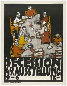 Egon Schiele (Austrian, 1890–1918)  Poster for the 49th Exhibition of the Vienna Secession (Secession 49. Ausstellung)