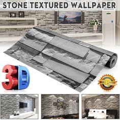 Stone Wallpaper, Diy Wallpaper, Wallpaper Paste, Painting Wallpaper, Sticker Paper, Wall Stickers, Bedroom Murals, Pvc Wall, Brick And Stone