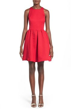 Free shipping and returns on Soprano Bow Back Textured Skater Dress at Nordstrom.com. A bow detail sweetensthe strappy, open back of a cheerfulsleeveless skater dress in atouchablytextured raised-dot design.