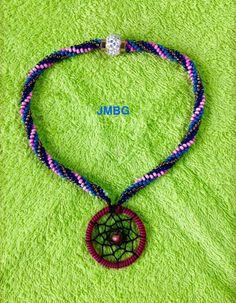 Collar en Kumihimo Betula Pendula, Collar, Washer Necklace, Silver, Diy, Jewelry, Beading, Accessories, Manualidades