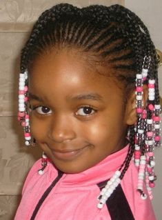 Little girl natural hairstyle with beads. | Black Women Natural Hairstyles