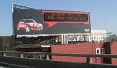 Billboard in San Francisco identifies approaching MINI drivers by using a signal from a radio chip embedded in their key fobs.