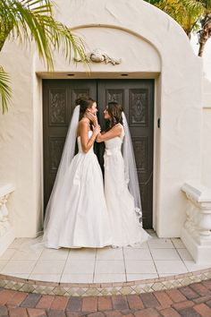 In honor of Pride Month, we& spotlighting some stunning same-sex wedding photos. Here, we share some of the most touching photos of gay and lesbian couples at LGBTQ+ weddings Lesbian Wedding Photography, Lesbian Wedding Photos, Cute Lesbian Couples, Lgbt Wedding, Lesbian Love, Wedding Pictures, Wedding Gowns, Life Photography, Wedding Portraits
