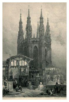 https://flic.kr/p/9Ac79f | 018- Torre de la sala capitural de la catedral de Burgos- The tourist in Spain (1837)-Roberts David | Esta imagen pertenece a www.odisea2008.com Copyright Creative Commons : Reconocimiento-NoComercial-SinObraDerivada CC BY-NC-ND Referencia post: www.odisea2008.com/2011/04/vizcaya-y-las-dos-castillas-pr...