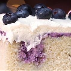 Blueberry Cheesecake Poke Cake Is a Dessert Lover's Dream
