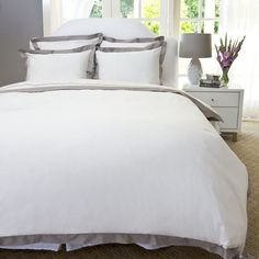 Bedroom inspiration and bedding decor   The Linden Grey Border Duvet Cover   Crane and Canopy