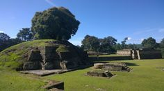The ruins of Iximche, the capital of the Kaqchikel Kingdom in the 15th century in the central highlands of Guatemala. Located next to the modern town of Tecpan.