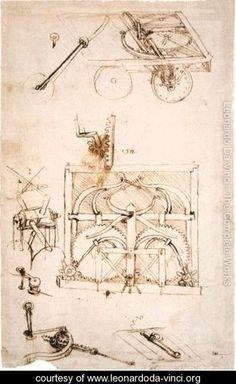 Leonardo da Vinci' s visionärer Weitblick, ...Automobile, oder wie immer er sie genannt hätte.