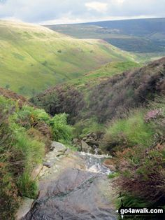 Walk Picture/View: Bareholme Moss and Crowden (right) from Oakenclough Brook in The Peak District, Derbyshire, England by Simon Jacks (24)