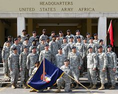 awesome United States Army Africa Staff Photo - 2009 - Vicenza, Italy