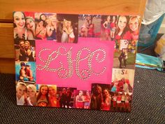 Look how talented my sister is!! A present She made for her best friend! Very creative and she loved it :)