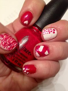 China Glaze- With Love  Sinful Colors- Snow Me White  Revlon- Oh My Magenta