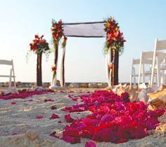 wedding on the beach, so beautiful