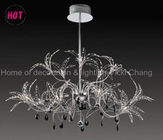 15 lights ,Telescopic pendant lamp, crystal chandelier, chrome  US$ 157.89 - US$ 182.11/piece