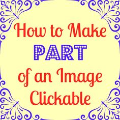 How To Make Part of an Image Clickable