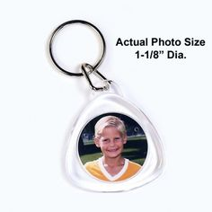 Acrylic Tear Drop Keychain is a great contemporary look.  Includes photo