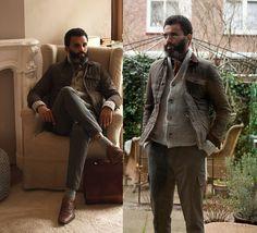 H&M Sack Jacket, H&M Diy Vest, Marco Polo Tweed Cargo, A Murder Of Crows Diy Shoes, A Murder Of Crows Sock Garters