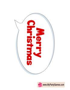 Free Printable Merry Christmas Photo Booth Prop