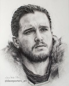 Jon Snow drawing Dave Porte - What an incredible talent