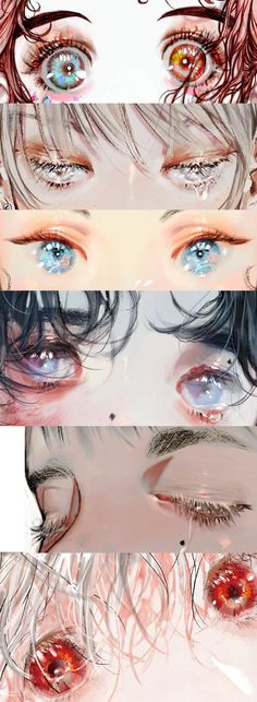 New anime art reference eyes 18 ideas Digital Painting Tutorials, Digital Art Tutorial, Art Tutorials, Manga Eyes, Anime Eyes, Pretty Art, Cute Art, Manga Art, Anime Art