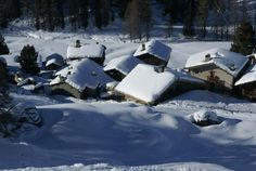 Champoluc, Valle d'Aosta, Italy - During the winter it just looks like a village from a fairytale!