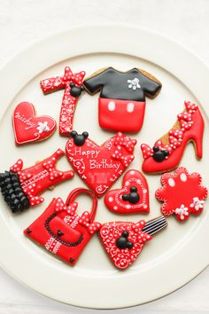 micky & minnie inspired sugar cookies