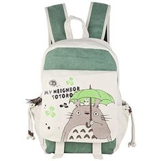 95a8bc9f9d94 Innturt Anime Totoro Canvas Backpack Bag Rucksack School Bag  Classic anime  backpack