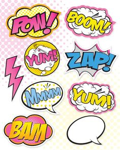 Superhero Girl Party Signs Large Medium & by PartiPartieParty