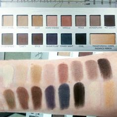 Swatches of the It Cosmetics Naturally Pretty Celebration holiday palette