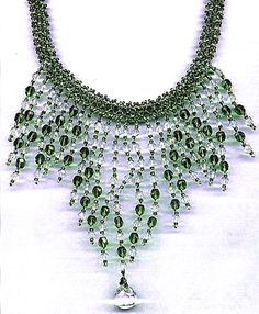 Free pattern for necklace Water |Nymph
