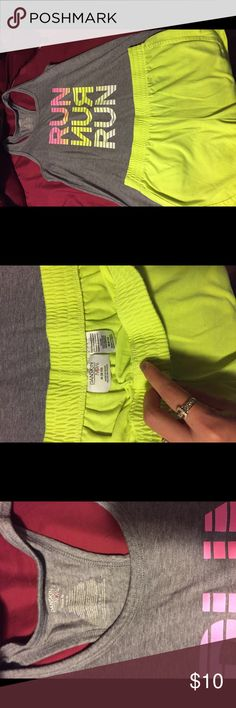 DANSKIN OUTFIT Run tank and neon yellow shorts to match. Barely worn , both size M 8-10 Danskin Tops Tank Tops